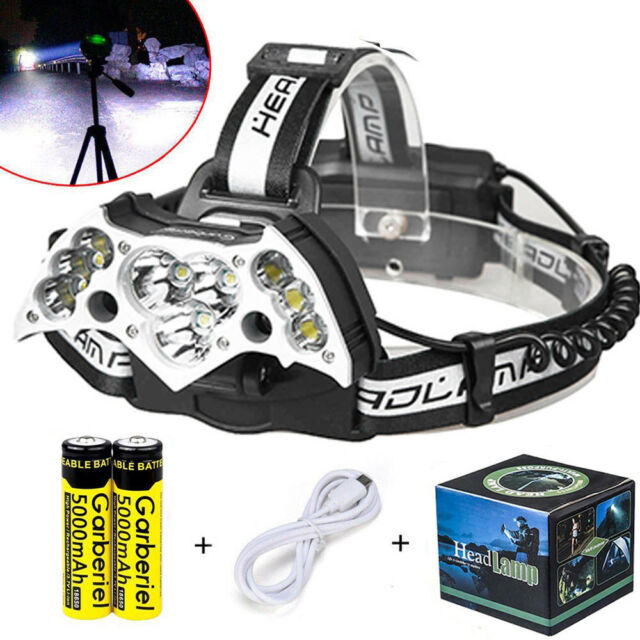 150000lm Tactical Police 11xt6 LED 18650 Ultra Bright Headlamp ...