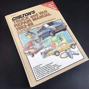 CHILTON-039-S-TRUCK-AND-VAN-Repair-Manual-7815-1982-THRU-1988