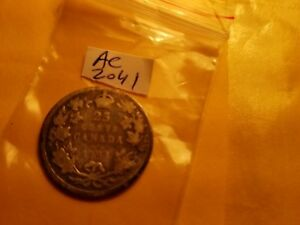 1903-Canada-25-Cents-Twenty-Five-Cents-Rare-Silver-Coin-ID-AC-2041
