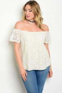 05866c7f8e3 NEW..Lovely Stylish Plus Size Ivory Lace Off the Shoulder Top.Sz18 ...