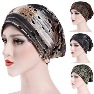Fashion-Womens-Muslim-Ruffle-Cancer-Chemo-Hat-Beanie-Scarf-Turban-Head-Wrap-Cap