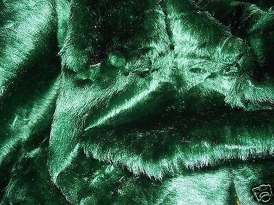 Faux Fur Fabric BOTTLE GREEN - All Sizes Bulk Discounts FREE POST