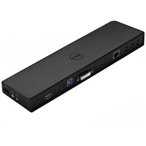 Dell-SuperSpeed-USB-3-0-Docking-Station-Dock-VGA-DVI-HDMI-Gigabit-Audio-NO-AC
