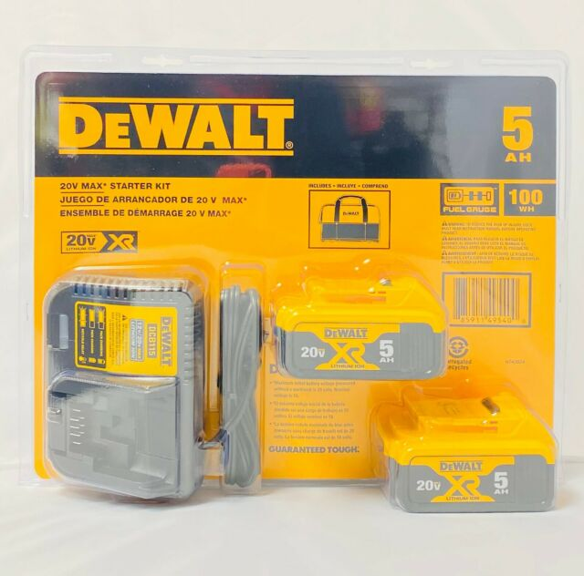 Dewalt 20V DCB205-2CK 5Ah Lith-Ion dcb115 2 Batteries & charger Starter Kit NEW