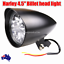 Black-billet-head-light-Harley-sportster-softail-chopper-bobber-dyna-dot-alloy thumbnail 1