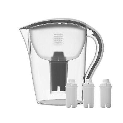 Drinkpod Water Pitcher 2.5 L 8 Stages Bonus 3 Filters! Alkaline Ionizer
