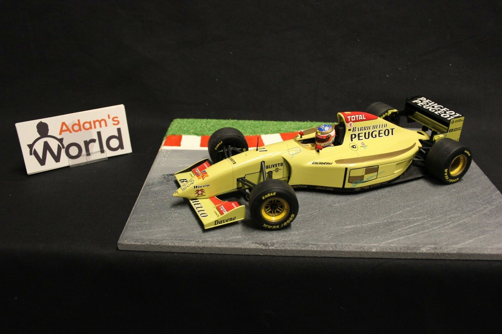 Minichamps Jordan Peugeot Show car 1996 1 18  11 Rubens Barrichello (BRA) (F1NB)