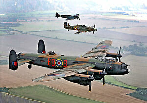 image is loading avro lancaster spitfire hurricane canvas from original watercolour