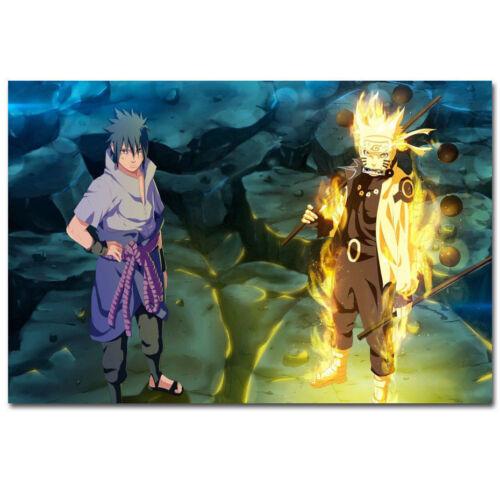 """Art Naruto /& Sasuke Full Power Hot Blood Fighting Poster 24x36/"""" 27/"""" P-731"""