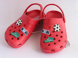 BOYS FOOTBALL RED CLOG STYLE SHOES KIDS SIZE 11 ONLY £4.99