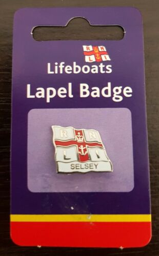 "Brand New /""RNLI SELSEY FLAG LAPEL PIN BADGE/"" FREE POST // SAME DAY DISPATCH !!"