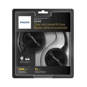 Cascos-Philips-Negro-SHL3060-3-5mm-1000mW-Diadema-Cerrado-Auriculares-Musica-MP3