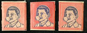 1937-BELGA-MAGIC-GUM-Unopened-Wax-Pack-Lot-3-Very-Rare-Gum-amp-Transfer-inside