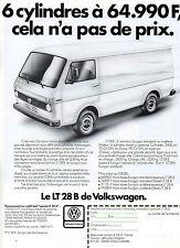 Publicité Advertising 1983  VOLKSWAGEN  LE LT 28 B  fourgon camionnette