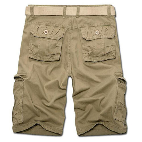 Mens Cargo Shorts Pants Chino Military Army Casual Combat Bottoms Short Trousers
