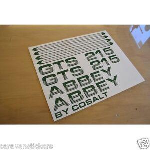 ABBEY GTS Caravan Stickers Decals Graphics SET OF EBay - Graphics for caravanscaravan stickers ebay