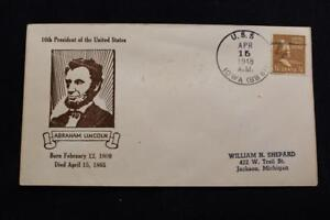 Navale-Cover-1948-Nave-Cancel-LINCOLN-039-S-Compleanno-Uss-Iowa-BB-61-5155