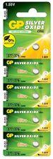 Batería de botón de óxido de plata GP Celulares 377/SR66 Paquete de 5