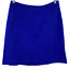 """thumbnail 1 - Mario Serrani Italy Women's Casual Solid Blue Skirt Back Zip A-line Size 10"""""""