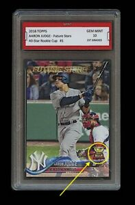 AARON JUDGE Topps Future Stars #1 GOLD ROOKIE Cup Card 1ST GRADED 10 NY Yankees