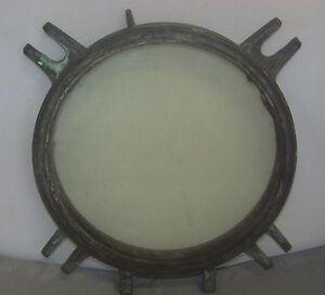 Ship's Porthole Vintage Original Ship's Porthole W/ Extremely Thick Glass Shrink-Proof Maritime