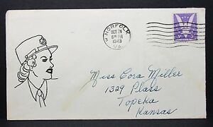 US-Hand-Drawn-Sexy-Patriotic-Cover-Norfolk-1943-3c-Win-the-War-Letter-I-7358