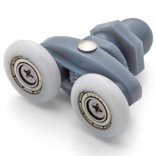 8 X Einzelbett Duschtüren Rollen//Läufer//Räder Durchmesser 20mm Or 23mm L006