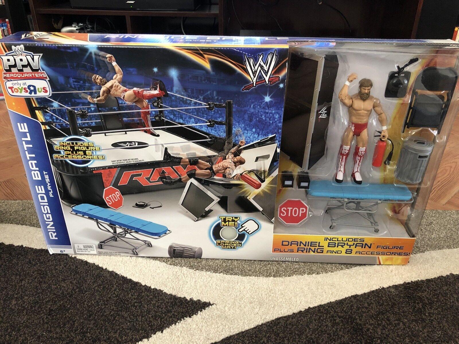 WWE Exclusive Playset PPV Ringside Battle Ring New Daniel Bryan TRU RARE