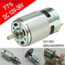 Large Torque High Power Motor 775 12v 36v Dc 3500 9000rpm Low Noise Bracket