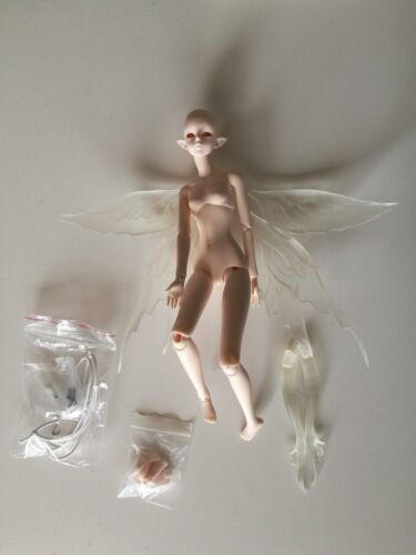 1//6 bjd sd doll girl asia with eyes WITHOUT any make up animal body+human body