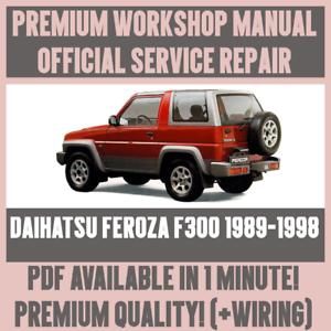 workshop manual service repair guide for daihatsu feroza f300 1989 rh ebay com au daihatsu feroza engine workshop manual daihatsu feroza workshop manual download