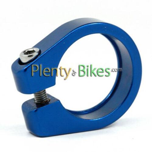 Blue Alloy 27.2 Pillar Seatpost Collar Clamp Road Fixie Hybrid Bike Bicycle