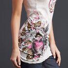 Sinful AFFLICTION Women TANK TOP T-Shirt HERBAL Heart Wings Tattoo Biker UFC $48