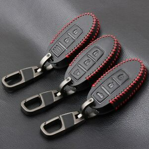1pc New 3 Buttons Car Key Case Key Fob Holder Cover Leather For