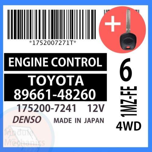 89661-48260 W// PROGRAMMED TRANSPONDER KEY 2001 01 Toyota Highlander OEM ECU ECM