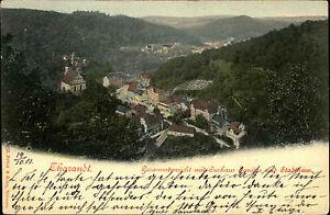 Tharandt-Sachsen-Saechsische-Schweiz-Erzgebirge-AK-1901-Kurhaus-Sanitas-Stadthaus
