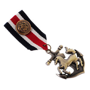 Horse-Anchor-Badge-Brooch-Pin-Medal-Ribbon-Costume-Party-Dress-Pin-Gifts
