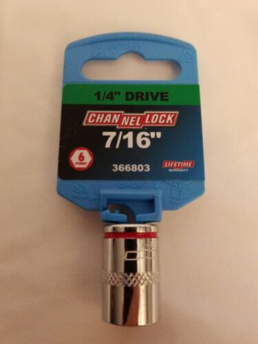 """Channellock Products Sockets 1//4/"""" Drive Brand New"""