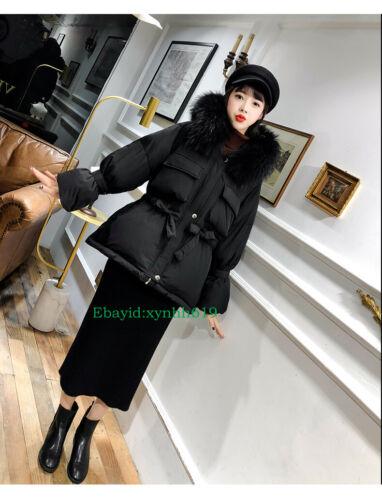 2019 Women duck down jacket Coat Winter jacket outwear With 100/% real fur collar