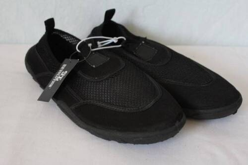 NEW Mens Water Shoes Size 7-8 Small Black Mesh Slip On Aqua Socks Sandals Lake