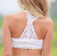 Choice 2 Colours Black or White Lace Summer Beach Camisole Crop//Cropped Top 8-10