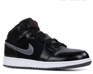Nike Air Jordan Sneakers BG Retro 1 Mid Basketball Running Black 852548 002