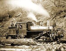 1940/'s B/&W 8.5x11 Photo Reprint Conifer NY Emporium Lumber Company Mill and Pond