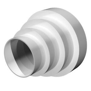 """Extracteur Ventilateur aspirant Tube Réducteur Ventilateur PVC 100 125 150 /& 200 mm 4/"""" 5/"""" 6/"""" 8/"""""""