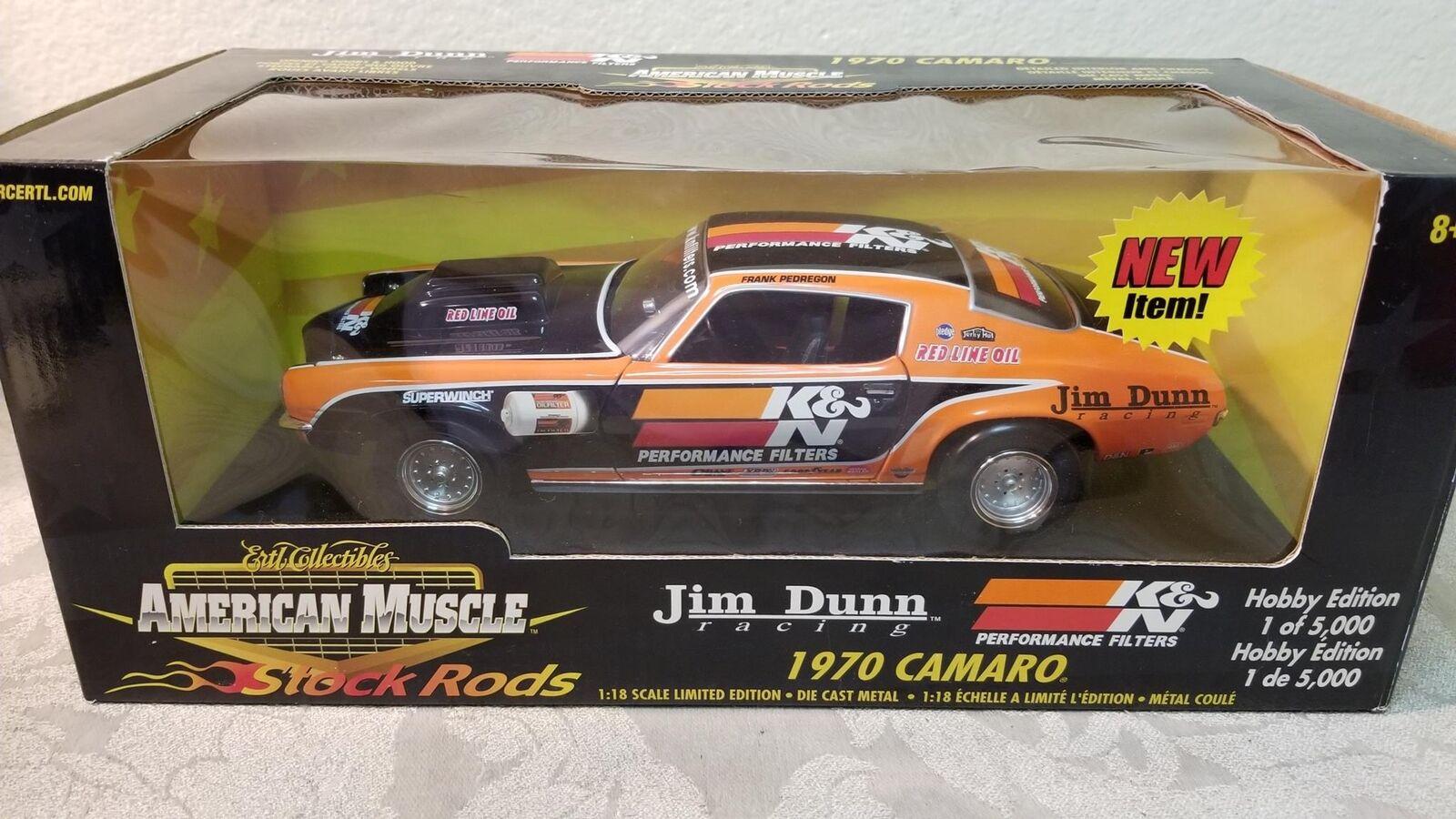 barato American Muscle Jim Jim Jim Dunn 1970 Camaro 1 18 Ltd Edt. Menta en caja  hasta un 60% de descuento