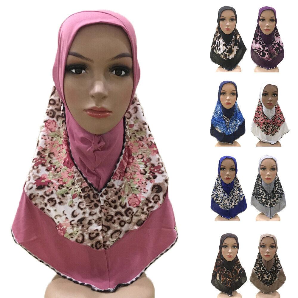 Muslim Women Hijab One Piece Amira Khimar Headscarf Prayer Hat Headwrap Headwear