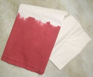 West Elm Dip Dye Tablecloth Red Tie Dye Pottery