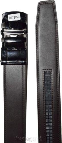 men/'s belt leather dress casual automatic lock eagle buckle new quick lock belt
