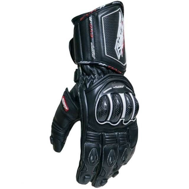 RST Tractech Evo R CE Motorbike Motorcycle Leather Gloves Black