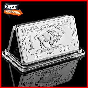 Bullion-Germany-Silver-Fine-Mint-1-Troy-Ounce-Buffalo-European-Metal-Bar